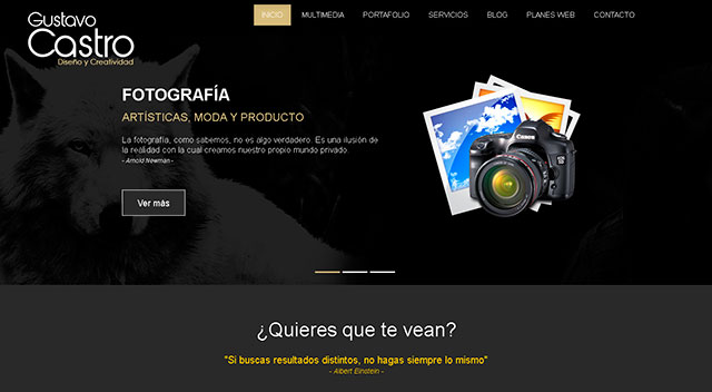 Nueva página web Gustavo-castro.com